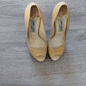 Authentic Jimmy Choo Peep toe